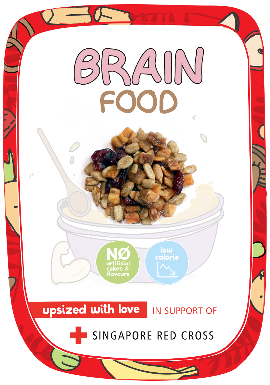 SRC Brain Food Kraft Stickers