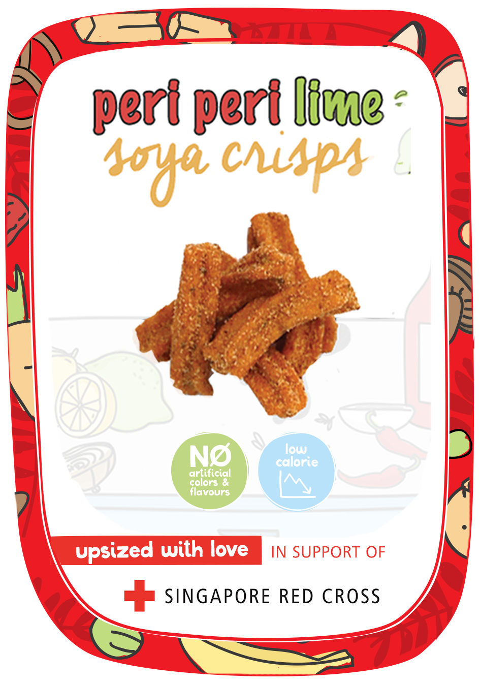 SRC Peri Peri Lime Kraft Stickers